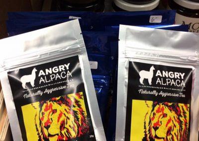 angry alpaca teas treehuggers farm gift store